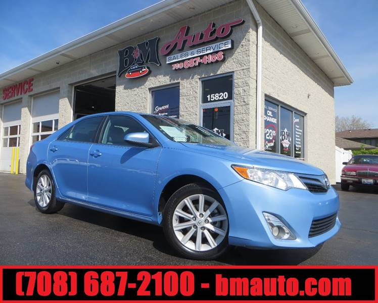 2012 Toyota Camry for sale at B & M Auto Sales Inc. in Oak Forest IL