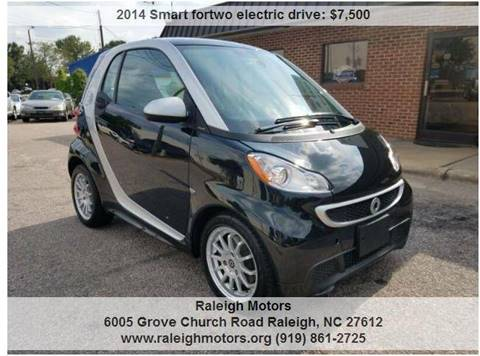 2014 Smart fortwo electric drive for sale in Raleigh, NC