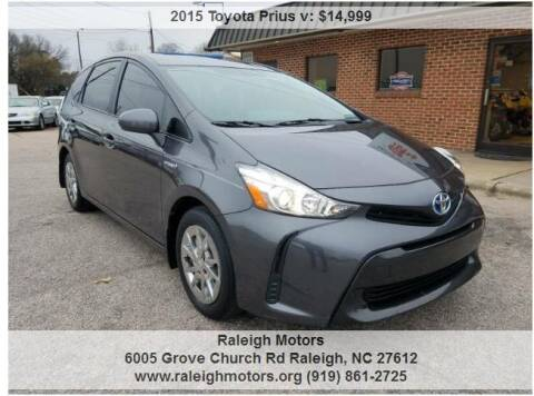 2015 Toyota Prius v for sale at Raleigh Motors in Raleigh NC
