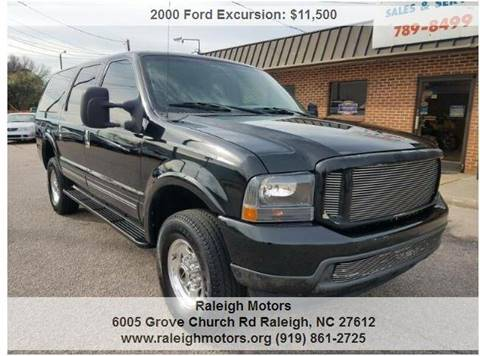 2000 Ford Excursion for sale at Raleigh Motors in Raleigh NC