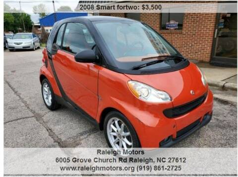 2008 Smart fortwo for sale at Raleigh Motors in Raleigh NC