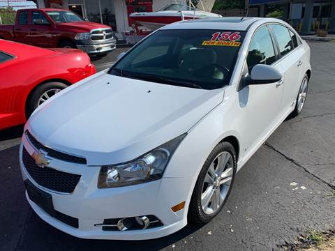 2012 Chevrolet Cruze for sale at Clarks Auto Sales in Connersville IN