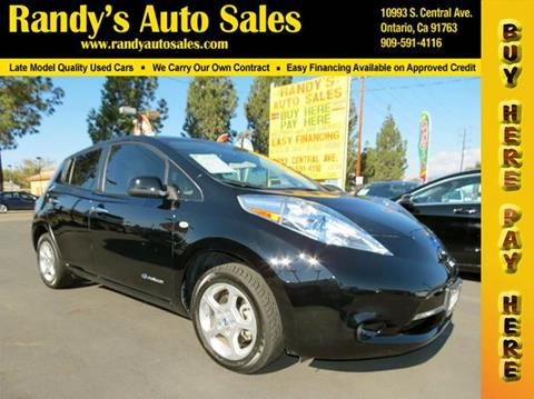 2012 Nissan LEAF for sale in Ontario, CA