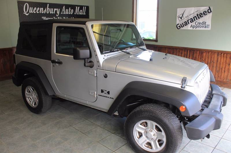 2007 JEEP WRANGLER X 4X4 2DR SUV arctic silver 6-speed manual 4wd affordable wrangler  38l