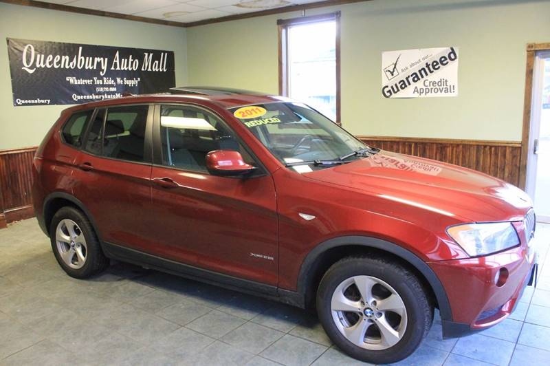2011 BMW X3 XDRIVE28I AWD 4DR SUV crimson red all wheel drive premium german cross over suv wi