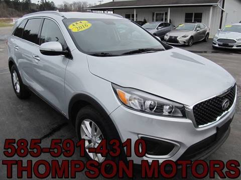 2016 Kia Sorento for sale at Thompson Motors LLC in Attica NY