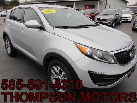 2016 Kia Sportage for sale at Thompson Motors LLC in Attica NY