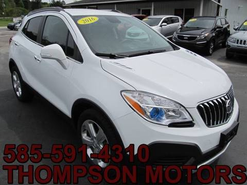 2016 Buick Encore for sale at Thompson Motors LLC in Attica NY
