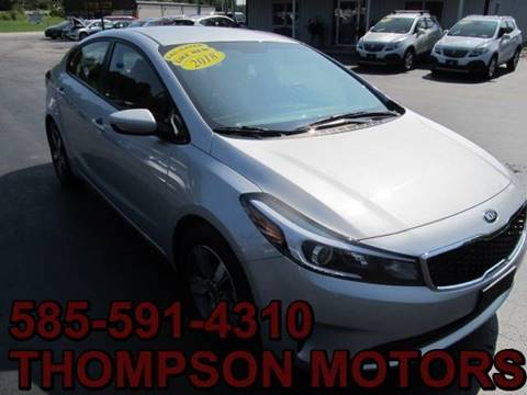 2018 Kia Forte for sale at Thompson Motors LLC in Attica NY