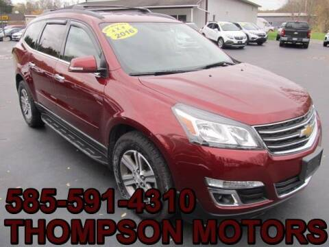 2016 Chevrolet Traverse for sale at Thompson Motors LLC in Attica NY