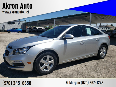 2015 Chevrolet Cruze 1LT Auto for sale at Akron Auto in Akron CO