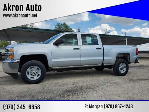 2016 Chevrolet Silverado 2500HD Work Truck for sale at Akron Auto in Akron CO