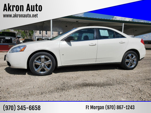 2008 Pontiac G6 GT for sale at Akron Auto - Fort Morgan in Fort Morgan CO
