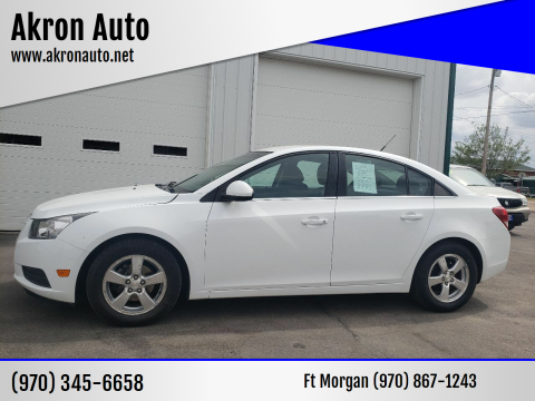 2013 Chevrolet Cruze for sale at Akron Auto in Akron CO