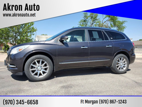 2015 Buick Enclave for sale at Akron Auto in Akron CO