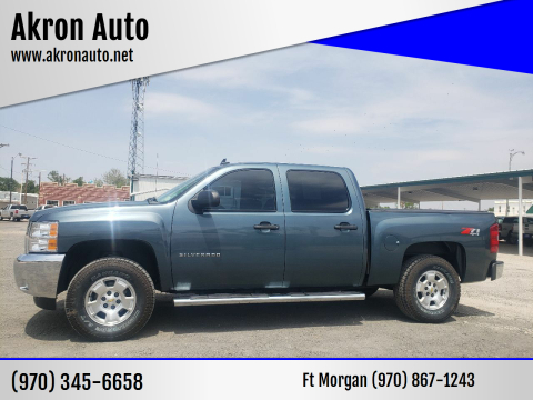 2012 Chevrolet Silverado 1500 for sale at Akron Auto - Fort Morgan in Fort Morgan CO