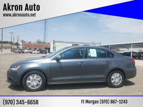 2014 Volkswagen Jetta for sale at Akron Auto - Fort Morgan in Fort Morgan CO