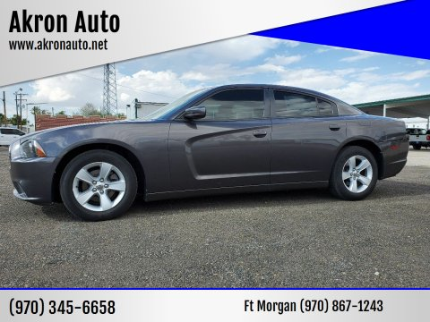 2013 Dodge Charger for sale at Akron Auto - Fort Morgan in Fort Morgan CO