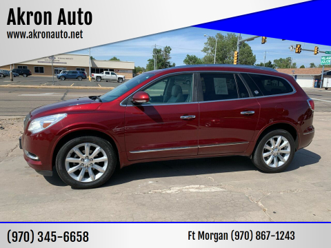 2016 Buick Enclave for sale at Akron Auto - Fort Morgan in Fort Morgan CO