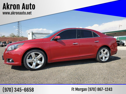 2013 Chevrolet Malibu for sale at Akron Auto in Akron CO