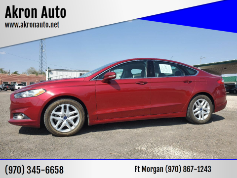 2016 Ford Fusion for sale at Akron Auto in Akron CO