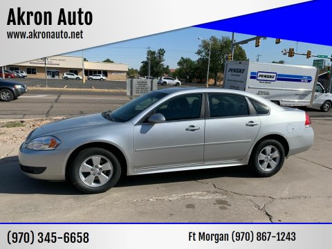 2010 Chevrolet Impala for sale at Akron Auto - Fort Morgan in Fort Morgan CO