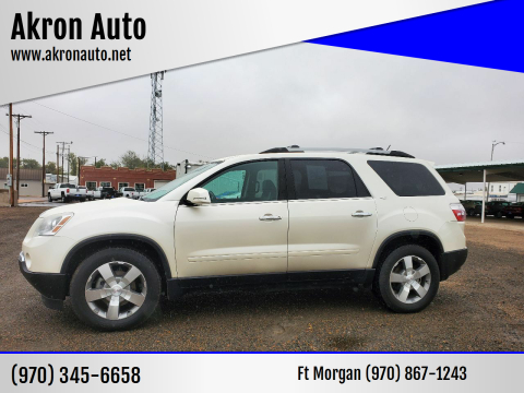 2012 GMC Acadia for sale at Akron Auto in Akron CO