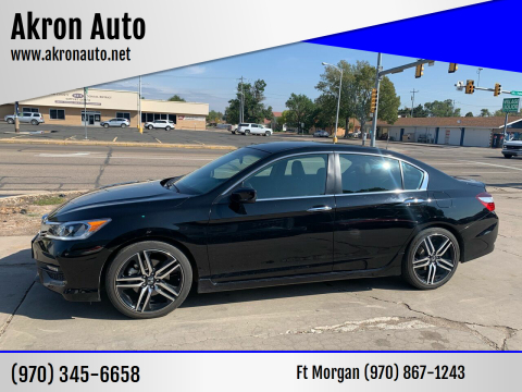 2017 Honda Accord for sale at Akron Auto - Fort Morgan in Fort Morgan CO
