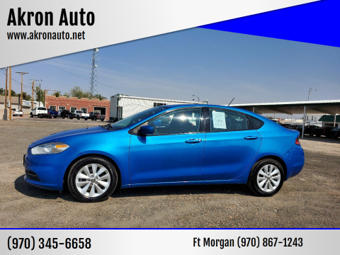 2016 Dodge Dart for sale at Akron Auto in Akron CO