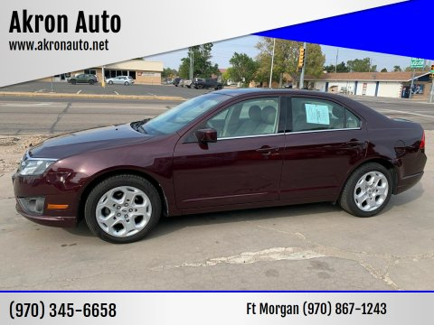 2011 Ford Fusion for sale at Akron Auto - Fort Morgan in Fort Morgan CO