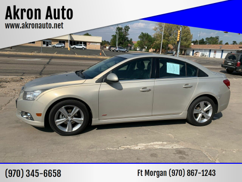 2012 Chevrolet Cruze for sale at Akron Auto - Fort Morgan in Fort Morgan CO
