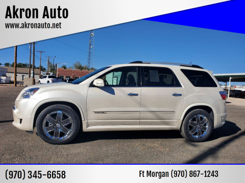 2011 GMC Acadia for sale at Akron Auto in Akron CO