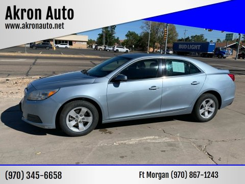 2013 Chevrolet Malibu for sale at Akron Auto - Fort Morgan in Fort Morgan CO