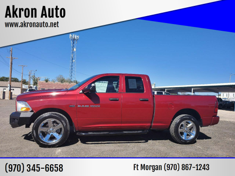 2012 RAM Ram Pickup 1500 for sale at Akron Auto in Akron CO
