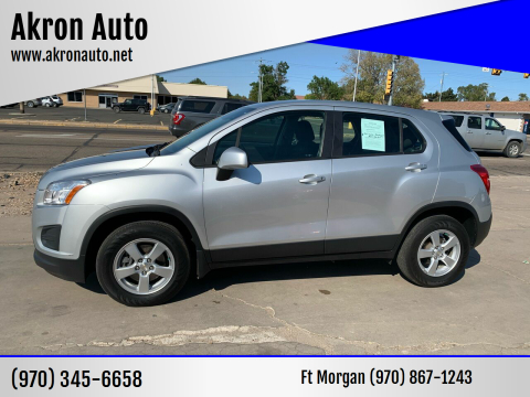 2016 Chevrolet Trax for sale at Akron Auto - Fort Morgan in Fort Morgan CO
