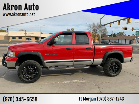 2004 Dodge Ram Pickup 2500 for sale at Akron Auto - Fort Morgan in Fort Morgan CO