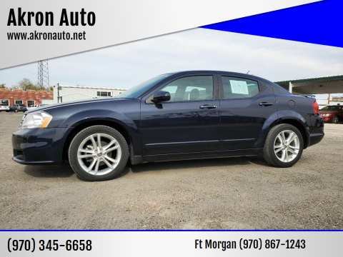 2012 Dodge Avenger for sale at Akron Auto in Akron CO