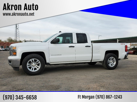 2014 Chevrolet Silverado 1500 for sale at Akron Auto - Fort Morgan in Fort Morgan CO