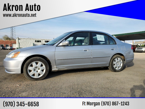 2002 Honda Civic for sale at Akron Auto in Akron CO