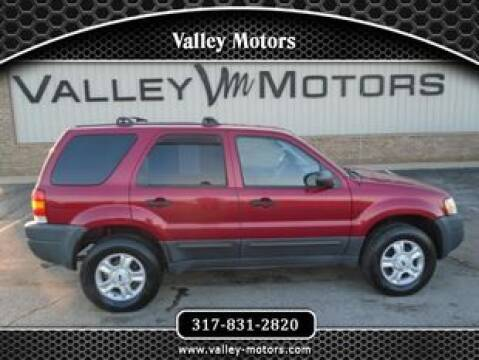 2004 Ford Escape XLT for sale at Valley Motors in Mooresville IN