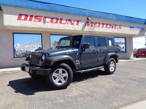 2008 Jeep Wrangler Unlimited for sale at Discount Motors in Pueblo CO