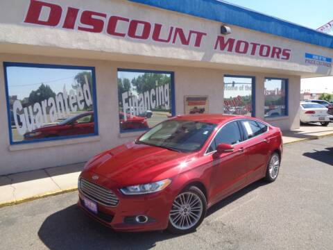 2013 Ford Fusion for sale at Discount Motors in Pueblo CO