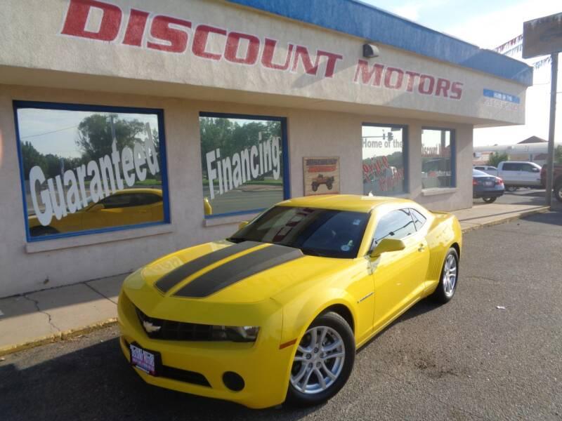2013 Chevrolet Camaro for sale at Discount Motors in Pueblo CO
