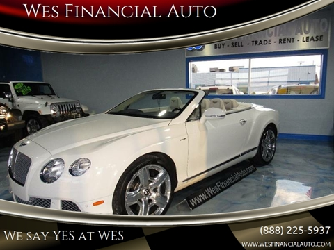 Bentley Continental For Sale In Dearborn Heights Mi Wes Financial