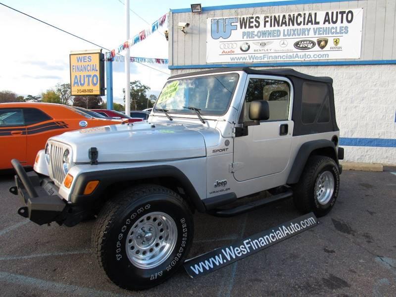 2004 Jeep Wrangler car for sale in Detroit