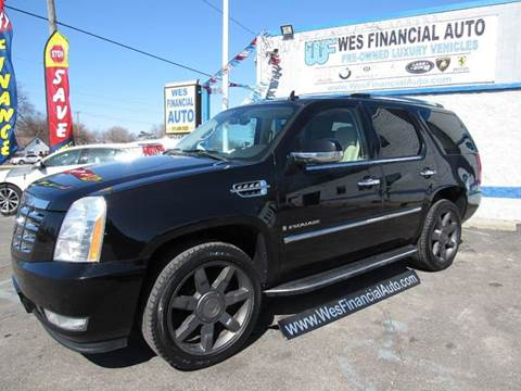 2007 cadillac escalade for sale in michigan. Black Bedroom Furniture Sets. Home Design Ideas