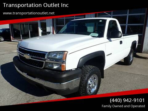 2006 Chevrolet Silverado 2500HD LS for sale at Transportation Outlet Inc in Eastlake OH