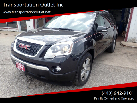 2011 GMC Acadia for sale at Transportation Outlet Inc in Eastlake OH