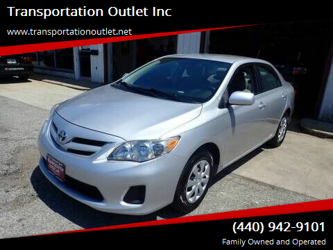2011 Toyota Corolla for sale at Transportation Outlet Inc in Eastlake OH