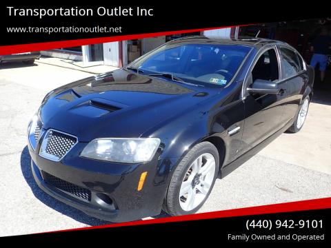 2008 Pontiac G8 for sale at Transportation Outlet Inc in Eastlake OH